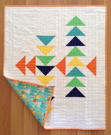 Modern Flying Geese Quilt Pattern by Benefits Of Membership Oahu Modern Quilt Guild