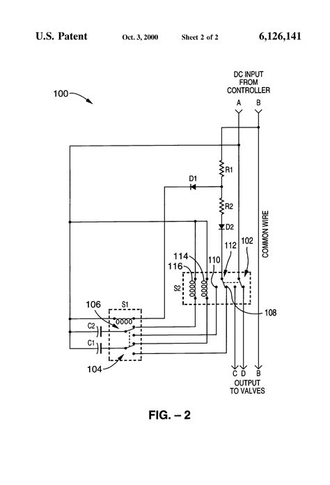 patent us6126141 irrigation system valve controller
