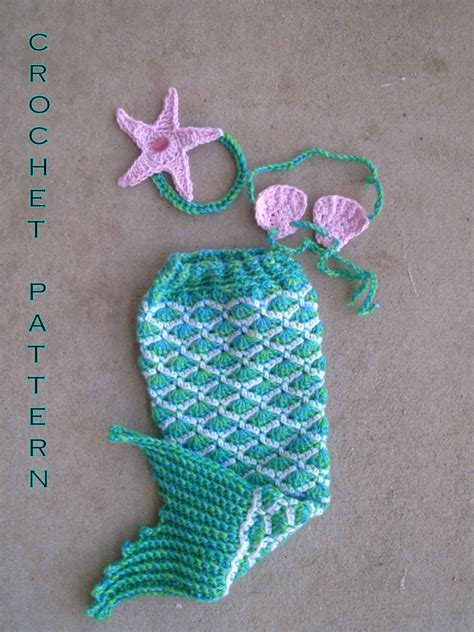name crocheting mermaid tail photo prop under the sea crochet pattern pdf baby mermaid outfit newborn photo prop