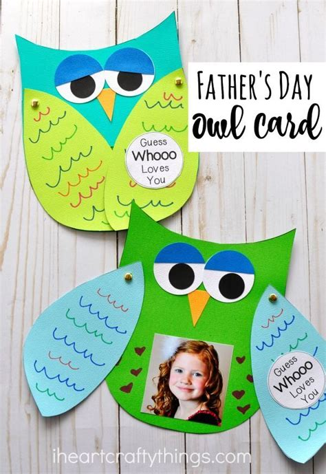 guess whooo loves you father s day kids craft father s