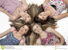 images teenage girl: four teen girls royalty free stock photography image