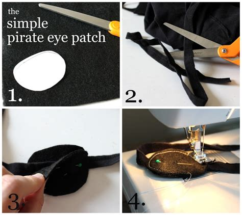 How To Make A Pirate Eye Patch Out Of Paper - 3 place the ends of the t shirt band inside the two felt
