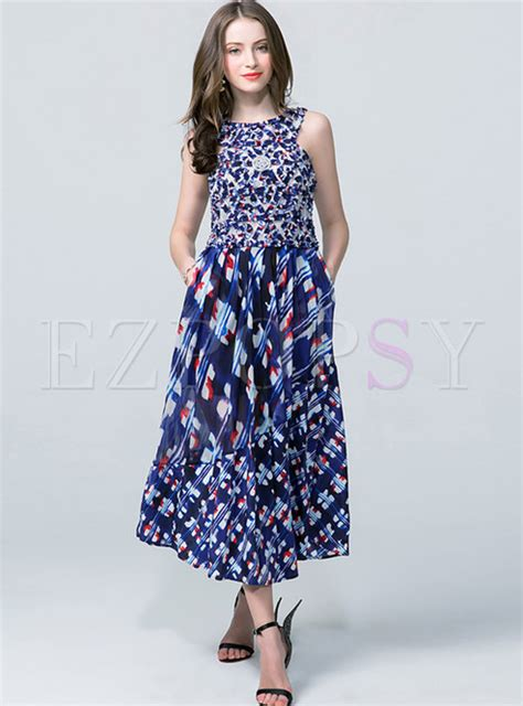 Ethnic Sleeveless Maxi Dress ethnic sleeveless print o neck maxi dress ezpopsy