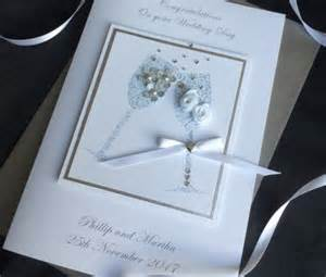 Handmade Wedding Cards Uk - handmade wedding card chagne handmade cards pink posh