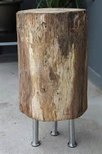 Tree Stump Side Table Tree Stump Side Table Craft Ideas