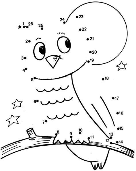 free printable owl worksheets free coloring pages of 1 30 dot to dot