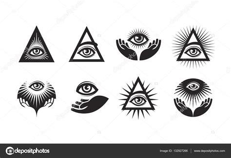 simbolo degli illuminati tutti i set di icone occhio vedente simbolo degli