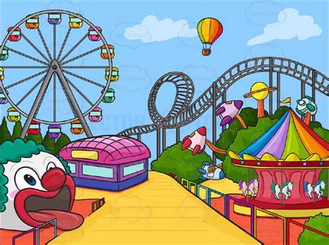 theme park clipart cartoon clipart amusement park background