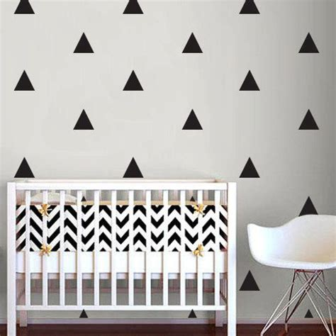 kid room decals triangle wall sticker home decor baby nursery wall decals