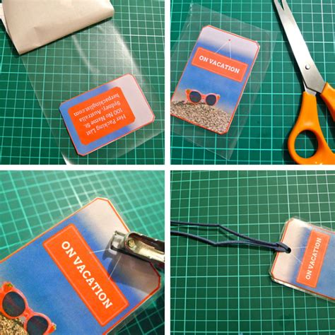 simple printable luggage tags diy luggage tag tutorials 3 fun ways to mark your bags