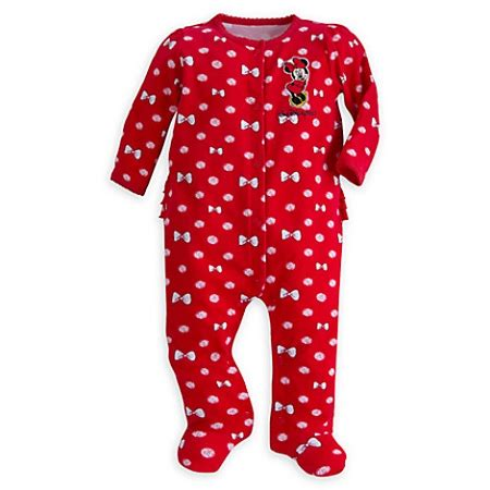 Minnie Mouse Sleeper by Disney Infant Sleeper Minnie Mouse With Bows Stretchie