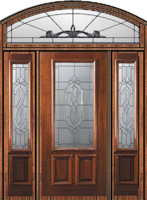 Front Door With Sidelights And Transom Front Doors Front Door With Sidelights And Transom