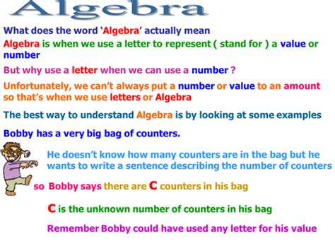 Parent Letter Explaining Common Math introduction to algebra simple expressions by mbefc