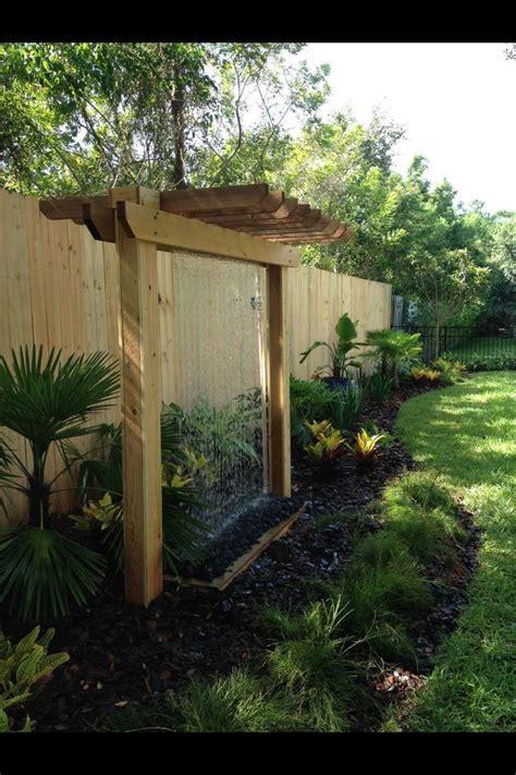 rain curtain water feature best 25 backyard water feature ideas on pinterest