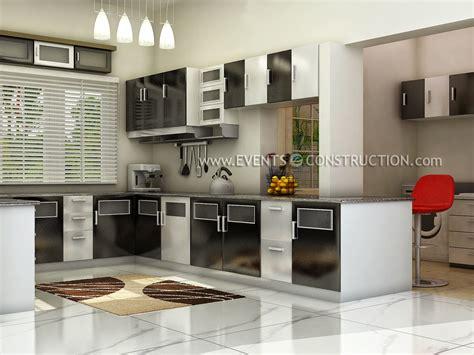 Kitchen Design In Kerala Evens Construction Pvt Ltd Kerala Kitchen Interior Design