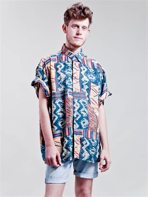 90s crazy patterned shirt   mens   How to wear 90s