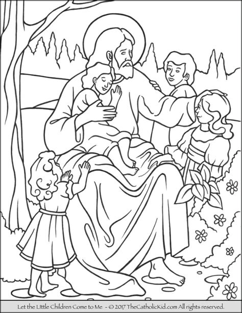 the catholic kid catholic coloring pages and games for