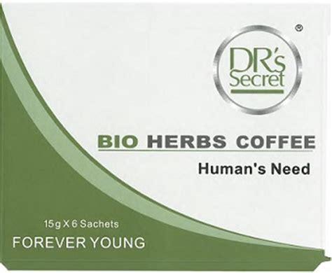 public notification: dr's secret bio herbs coffee contains