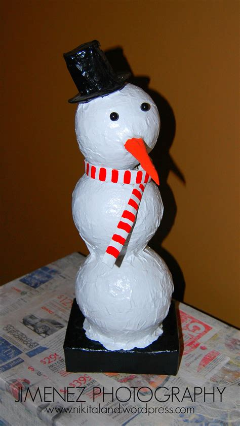 How To Make A Snowman With Paper - a paper mache palooza nikitaland