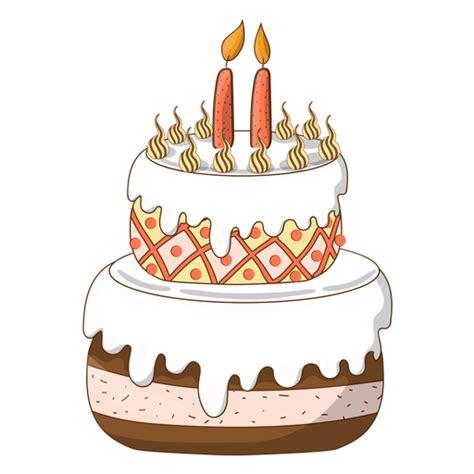 imagenes retro dibujos animados two candles birthday cake cartoon transparent png svg