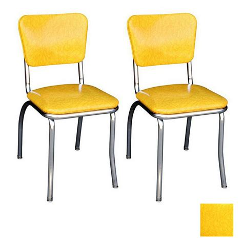 Chrome Dining Chairs Shop Richardson Seating 50 S Retro Chrome Stackable Dining Chair At Lowes