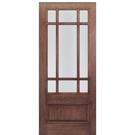 36 quot x80 quot 9 lite marginal tdl mahogany craftsman style entry