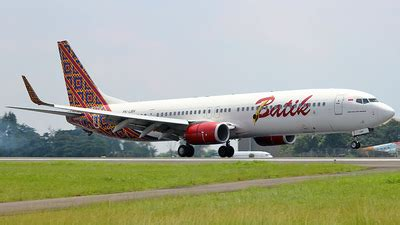 batik air flight number pk lbh boeing 737 9gp er batik air flightradar24