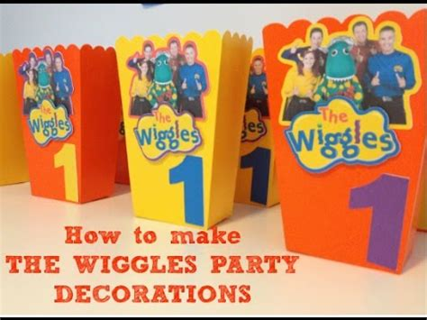 how to create printable party decorations how to make the wiggles birthday party decorations with
