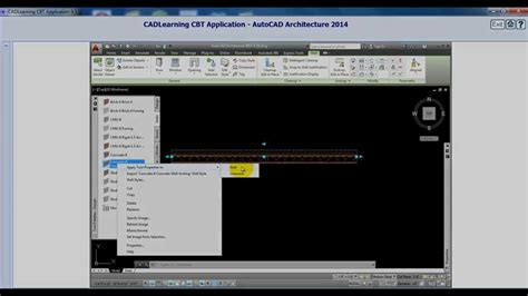 tutorial of autocad 2014 autocad architecture 2014 tutorial modifying wall style