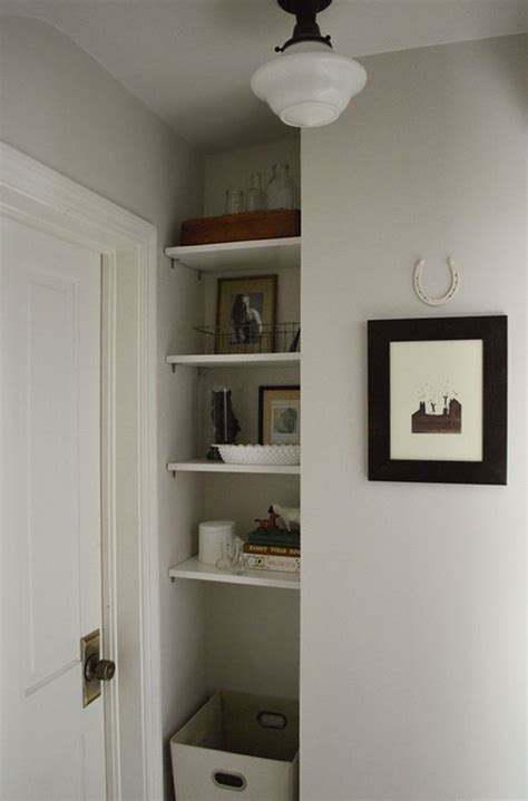 Nook Shelf by Upgraded Nook With Diy Shelves For The Home