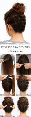 cool easy step hairstyles cool and easy diy hairstyles reversed braided bun