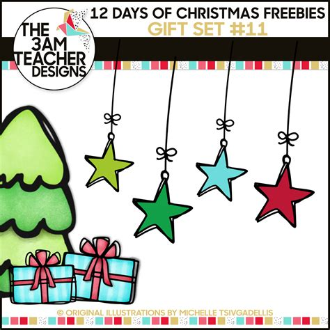 the 3am teacher 12 days of christmas freebies free