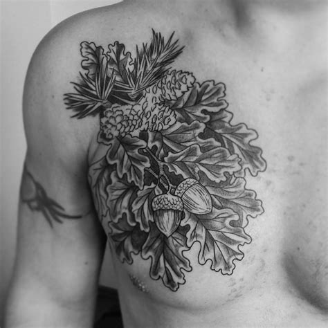 oak tattoo oak meanings best ideas gallery