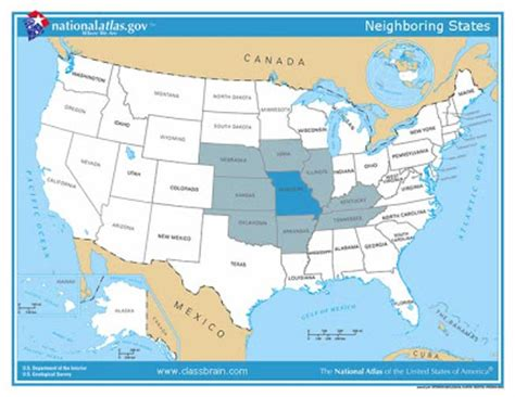 missouri map and surrounding states map of missouri and surrounding states swimnova