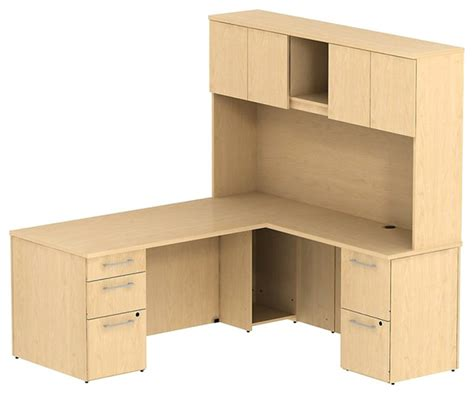 Maple Computer Desk With Hutch by Bush 300 Series 72 Quot L Shape Computer Desk With Hutch In