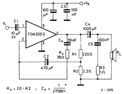 Ic Tda 2003 Ic St Audio Lifier rangkaian lifier tda2003 187 skemaku