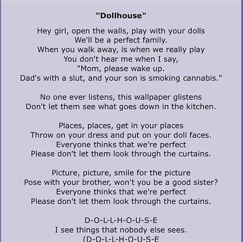 a z dollhouse lyrics doll house lyrics 28 images doll house