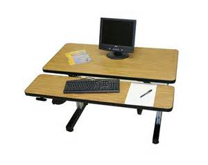adjustable height computer desk workstation dual surface hand crank adjustable height desks