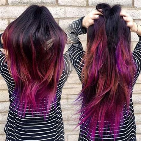 a hair color with a different color on the bottow 15 different hair color long hairstyles 2016 2017