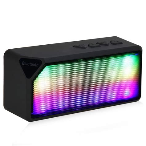 lights radio x3s mini wireless bluetooth speaker with microphone led