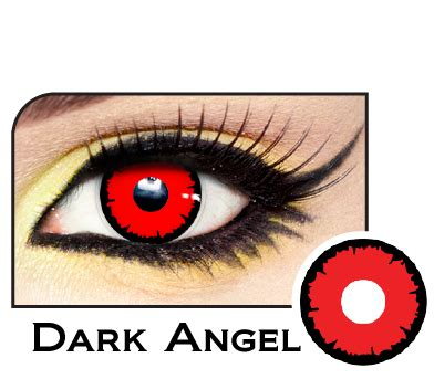 dark angel contacts angelic red | lensdirect.com