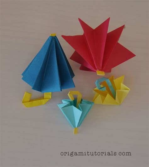 Kami Origami - free coloring pages origami umbrella tutorial origami