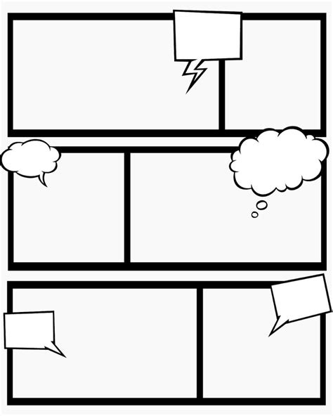printable blank comic template for 7 best images of comic book templates printable free