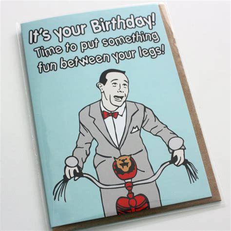 Wee Herman Birthday Card Funny Pop Culture Pee Wee Herman Pee Wee S Big By