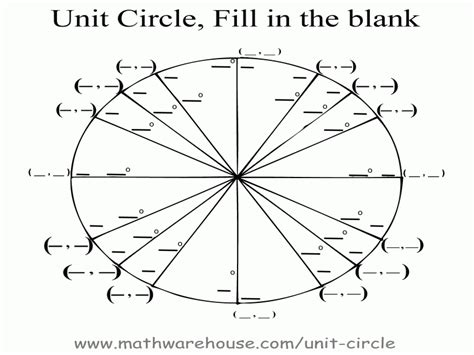 Unit Circle Worksheet the unit circle worksheet free printable worksheets
