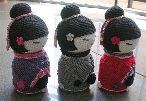 amigurumi geisha pattern 173 best images about amigurumi kokeshi on pinterest