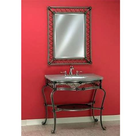 Wrought Iron Bathroom Vanities by Bathroom Vanities Wrought Iron Vanity Console 104 By
