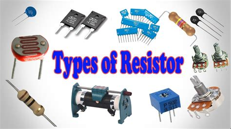 types of a resistor types of resistor resistor types different type of resistor