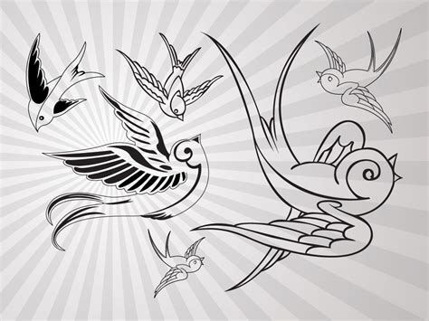 outline bird tattoo designs birds