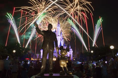 10 of fireworks shows at disney s theme parks disney s prized theme park no fly zone means it can t use